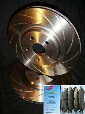 SLOTTED VMAX Front Disc Brake Rotors & HD PADS Ford TERRITORY TS TX Ghia NEW