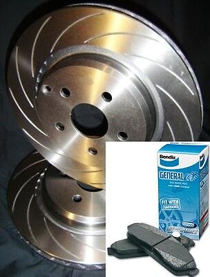 SLOTTED VMAX BENDIX PADS Ford TERRITORY TS TX Ghia SX SY Rear Disc Brake Rotors