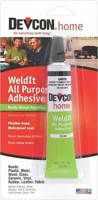 New Devcon S-182 Clear Weldit Household Cement Epoxy Glue Waterproof Adhesive