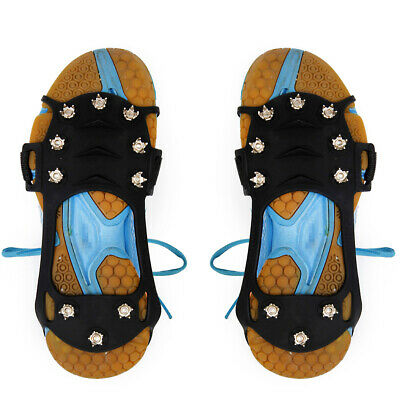 Anti Slip Over Shoe Studded Snow Ice Grips Shoes Boots Crampons Cleats Cover