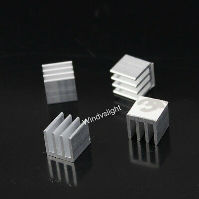 New High Quality 10pcs 10x10x10mm adhesive Aluminum Heat Sink For Memory Chip IC