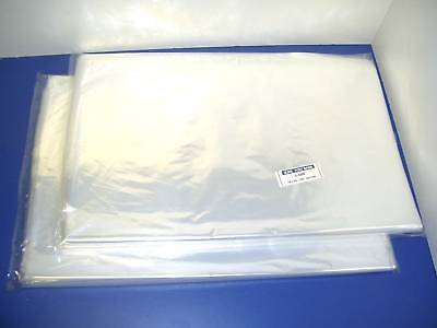 200 CLEAR 18 x 24 POLY BAGS 1 MIL PLASTIC FLAT OPEN TOP