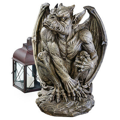 2 Ft. Gothic Sentinel Gargoyle Sculpture Medieval Guardian Statue - Large