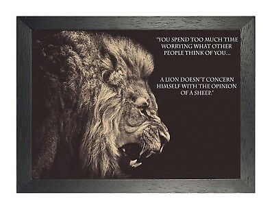 16 Motivation Picture Determination Poster Inspirational Quote Lion Photo Animal