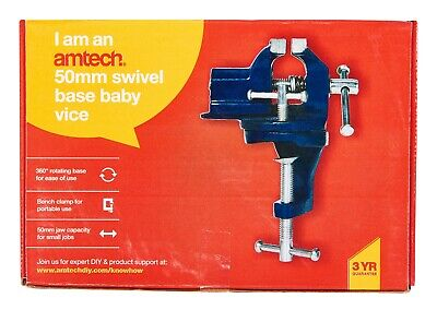 "50mm 2"" Swivel Base Mini Baby Vice Clamp Workbench Craft Model Maker Hobby DIY"