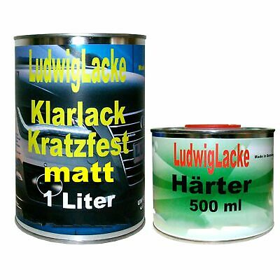 Klarlack 1,5 Liter Set Klarlack MATT und Härter für Autolack Made in Germany