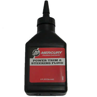 Mercury Mercruiser OEM Power Trim & Steering Fluid Oil 8oz 92-858074K01