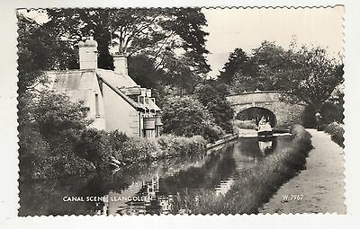 wales welsh postcard united kingdom british the canal llangollen