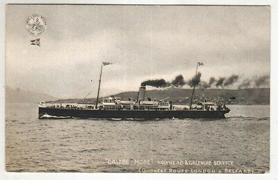 northern ireland postcard ulster irish galtee more ship london belfast