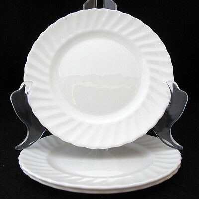 ADDERLEY WHITE FIFE BREAD AND BUTTER PLATE SWIRL EDGE England set of three