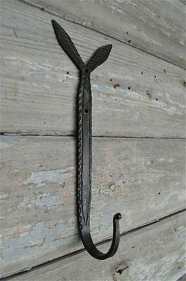 A Beautiful Large Leaf Top Hammered Wrought Iron Coat Hook Wall Hook Lt1