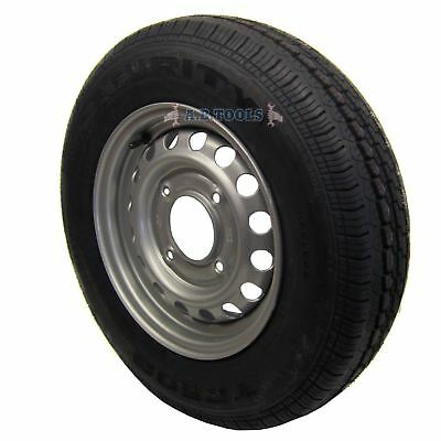 """Trailer Wheel and Tyre 165 R13C 5-1/2"""" PCD TRSP08"""
