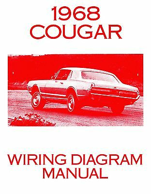 1968 68 Cougar Wiring lincoln 1968 continental wiring diagram manual 68 $11 99 picclick