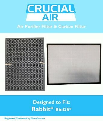 Air Filter & Carbon Filter Kit Fits Rabbit BioGS / BioGP SPA-421A & SPA-582A