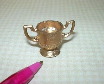 Miniature Large Cast Metal Gold Trophy, Loving Cup: DOLLHOUSE Miniatures 1/12