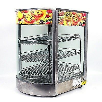 New Stainless Steel Commercial Countertop Pizza Food Display Warmer 20x17x14 MTN