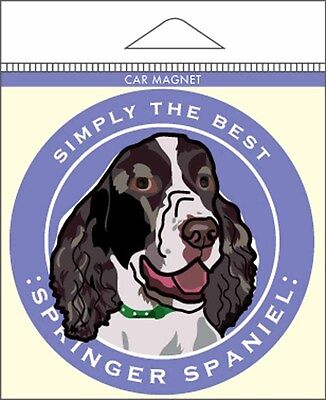 Springer Spaniel Car Magnet 4×4″