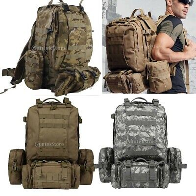 65L Tactical Army Military 3D Molle Assault Rucksack Backpack Outdoor Hiking Bag