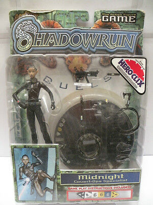 Shadowrun Action Figure * MIDNIGHT * Covert-Ops Specialist with Dice NEW