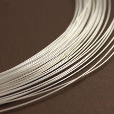 1 Meter Solid 925 Sterling Silver Round Wire Jewelry Making From 0.4 To 0.8mm