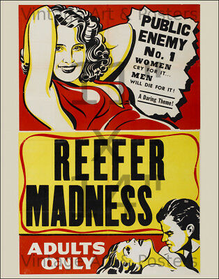 Reefer Madness #2 - 11x14 inch vintage Film / Movie Poster