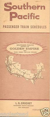 Railroad Timetable - Southern Pacific - 19/02/67