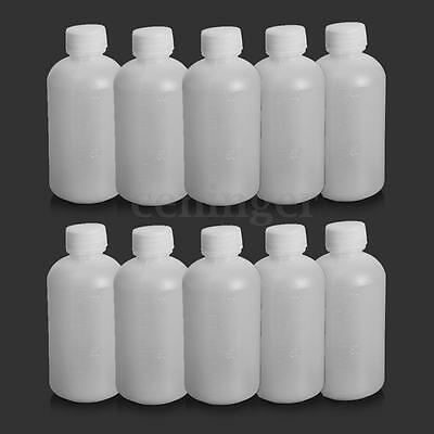 10X 100ml Empty Plastic Chemical Seal Bottle Squeezable Vial Reagent Container