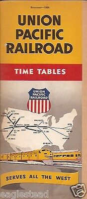 Railroad Timetable - Union Pacific - Summer 58