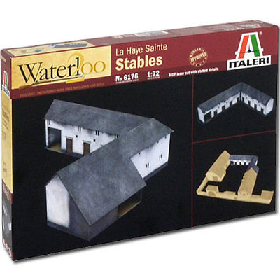 ITALERI Waterloo La Haye Sainte Stables 6176 1:72 Figures Model Kit