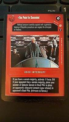 Star Wars CCG Coruscant The Point Is Conceded NrMint-MINT SWCCG