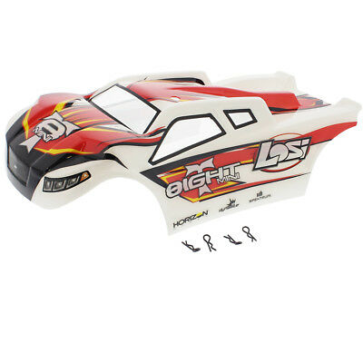 Losi 1/14 Mini 8ight-T Truggy * RED, WHITE & BLACK BODY, DECALS & CLIPS * Shell
