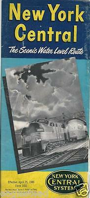 Railroad Timetable - New York Central - 25/04/48