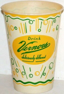 Vintage paper cup DRINK VERNORS 7oz size unused new old stock n-mint+ condition