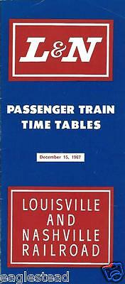 Railroad Timetable - L&N - Louisville and Nashville - 15/12/67