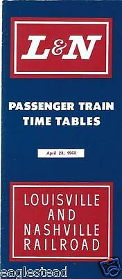 Railroad Timetable - L&N - Louisville and Nashville - 28/04/68