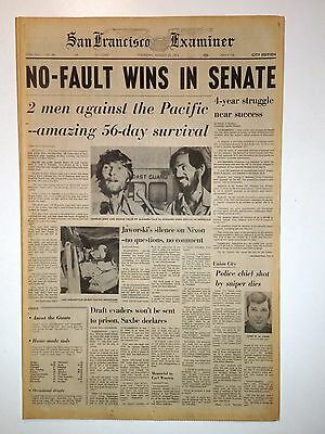 NO-FAULT WINS IN SENATE - 8/29/1974 - Charles Gore & George Sigler Raft Journey