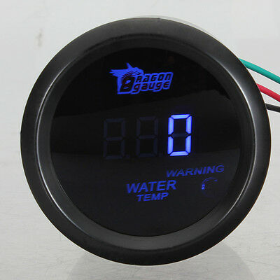 "2"" 52Mm Led Digitale Strumento Manometro Temperatura Acqua 40-120℃ Auto Race 12V"