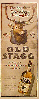 1945 Scores a Bull's Eye Old Stagg Kentucky Straight Bourbon Whiskey Promo Ad