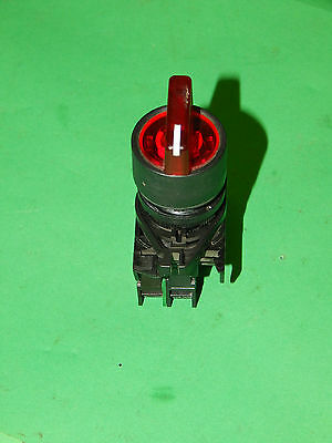 Allen Bradley 2 Position Illuminated Selector Switch With Contact Block