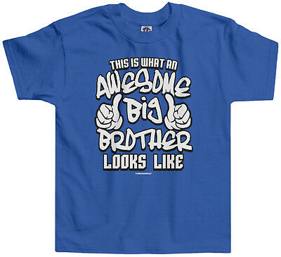 Threadrock Boys Awesome Big Brother Looks Like Toddler T-shirt Funny Saying