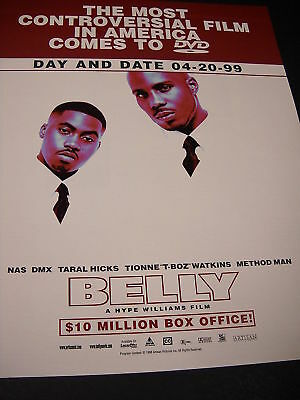 BELLY Hype Williams 1999 Promo Ad NAS SMX METHOD MAN