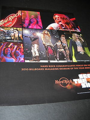 FERGIE Promo Poster Ad HARD ROCK CAFE - See The Show