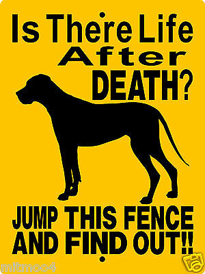 "GREAT DANE DOG SIGN,9""x12"" ALUMINUM,NON CROPPED EARS,Guard Dog Sign,   2514CE"