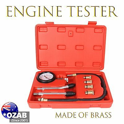 Petrol Engine Compression Test Tester Kit Set For Automotive Car Brass Tool