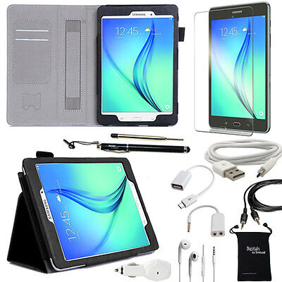 10-Item Accessory Bundle for Samsung Galaxy Tab A 8.0 8 Inch - Case and Chargers