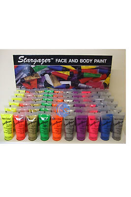 Stargazer Neon And Uv Face & Body Paint 10Ml Party Festival. 11 Colours.