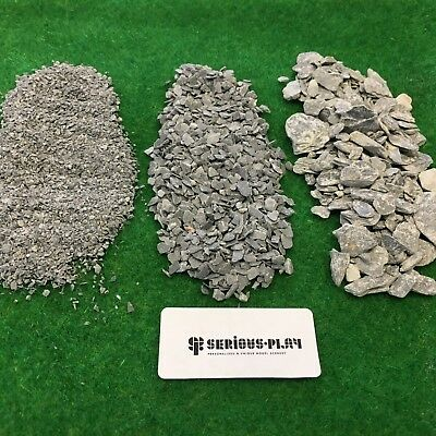 Fine Slate & Pieces  - Model Scenery Scatter Railway Warhammer Basing Materials