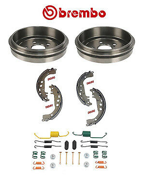 Brembo Rear Drums & Shoes w/ Hardware Kit Toyota Celica Corolla Prius