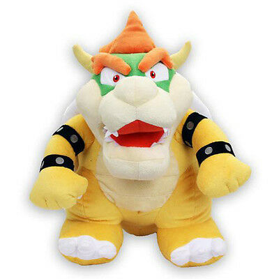 "Brand New Little Buddy 1244 Nintendo Official Super Mario 15"" Bowser Large Plush"
