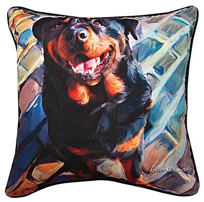 Rottweiler Artistic Throw Pillow 18X18″